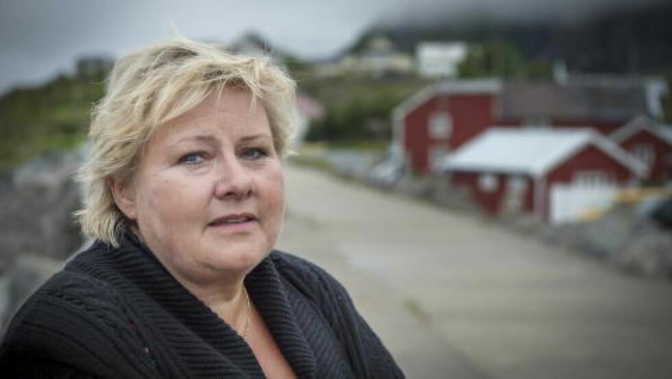 -LITE KONKURRANSE: Statsminister Erna Solberg mner det er lite konkurranse på bensinmarkedet, men påpeker at høy bensinpris også er positivt for miljøet. Foto: Øistein Norum Monsen / Dagbladet