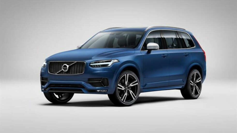 FEIL MED KOLLISJONSPUTENE: Volvo tilbakekaller 10 000 biler av den nyeste Volvo XC90 etter at det er oppdaget en feil med kollisjonsputene. Foto: Volvo