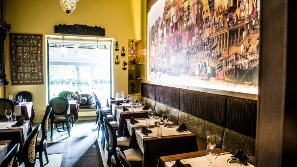 LUNT: Stemningen sitter i Jewel of Indias nye restaurant. Foto: Thomas Rasmus Skaug
