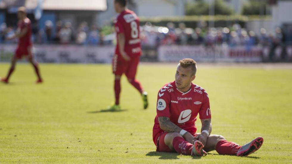 TIL ØSTLANDET IGJEN?: Marcus Pedersen hevder selv at Strømsgodset er interessert i å hente han tilbake til klubben. Foto: Carina Johansen / NTB scanpix