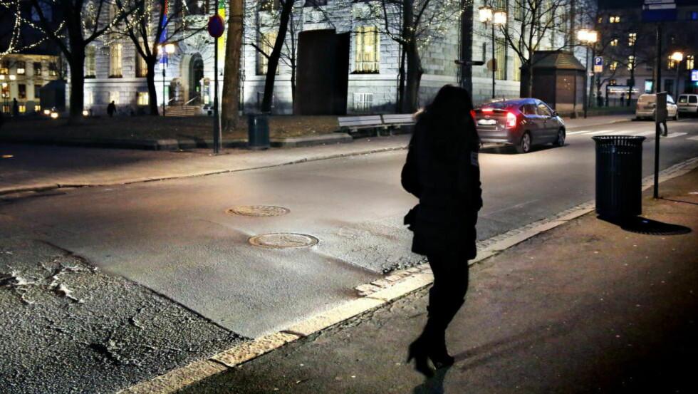 PROSTITUERT: En prostituert kvinne i Oslo sentrum. Arkivfoto: Jacques Hvistendahl / Dagbladet