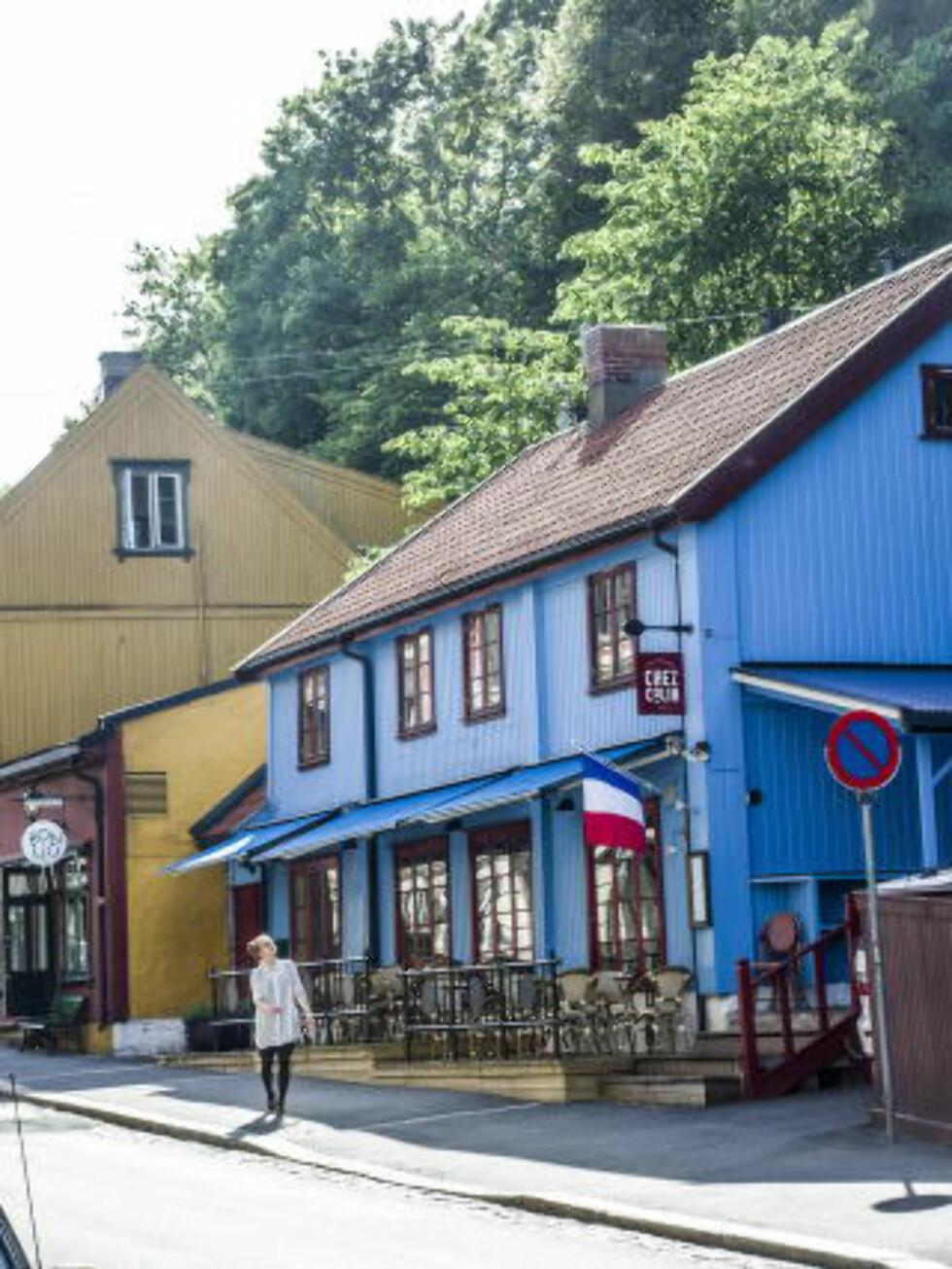<strong>PITTORESK:</strong> Restaurant Chez Colin ligger idyllisk til i et gammelt trehus på Fredensborg, rett ved siden av den katalanske restauranten Bon Lio. Foto: THOMAS RASMUS SKAUG