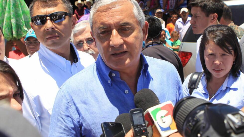 I TRØBBEL: Politiet i Guatemala siktet president Otto Pérez Molina for korrupsjon. Foto: REUTERS/Guatemala Presidency/Handout via Reuters