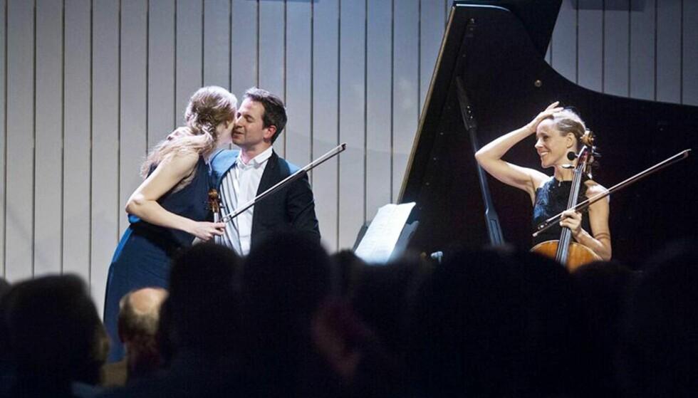 UTROLIG SPILL: Vilde Frang, Bertrand Chamayou og Sol Gabetta har nettopp gitt til beste den fineste utgaven av Schubert 2. Klavertrio som jeg noen gang har hørt. Foto: Liv Løvland
