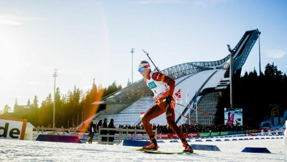 NOE Å SE FRAM TIL:  Tarjei Bø og skiskytterne går VM på hjemmebane i mars. Foto: Stian Lysberg Solum / NTB scanpix
