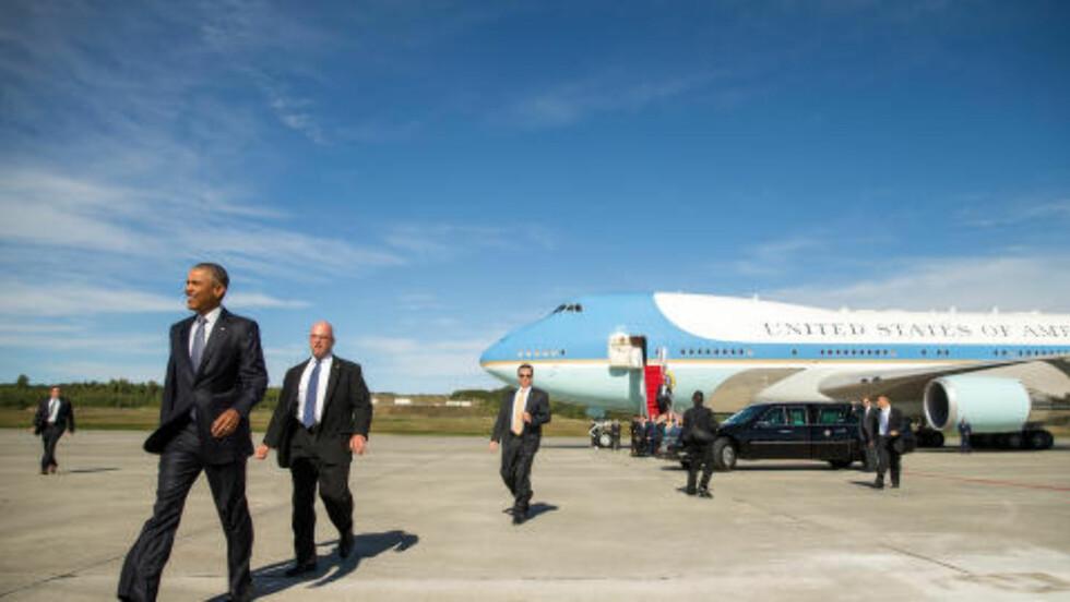 SISTE SPURT: USAs president, Barack Obama, kom mandag til Anchorage i Alaska. Nå vil han satser han alt på å få verden med på en klimaavtale ved å dra på tur og vise fram konsekvensene av klimaendringer i Alaska. Foto: AP Photo/Andrew Harnik