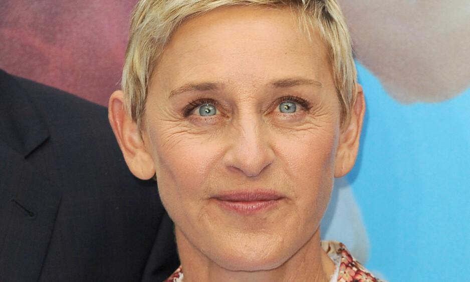 HEDRER GEORGE MICHAEL: Ellen Degeneres er blant de mange kjente ansiktene som uttrykker dyp sorg over George Michaels plutselige bortgang. Foto: James Higgins / Splash News