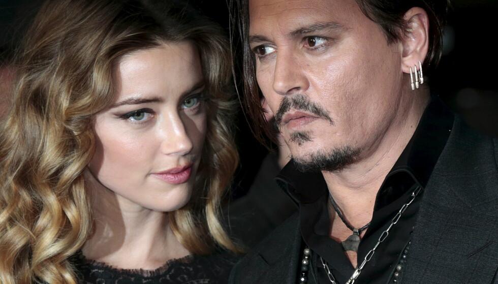 <strong>TRAKK ANKLAGENE:</strong> Amber Heard trakk tirsdag voldsanklagene og besøksforbudet mot Johnny Depp. Her er de tidligere ektefellene på filmpremiere i oktober i fjor. Foto: REUTERS/Suzanne Plunkett, NTB scanpix