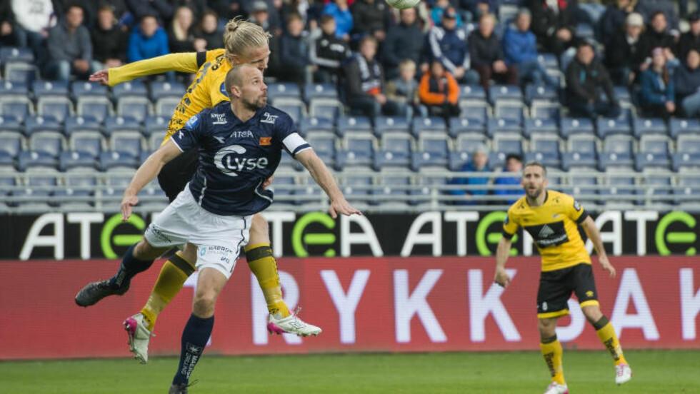 <strong>Jevnspilt kamp:</strong>  Det så lenge ut til å gå mot uavgjort på Viking Stadion etter en jevn kamp i Stavanger.Foto: Carina Johansen / NTB scanpix