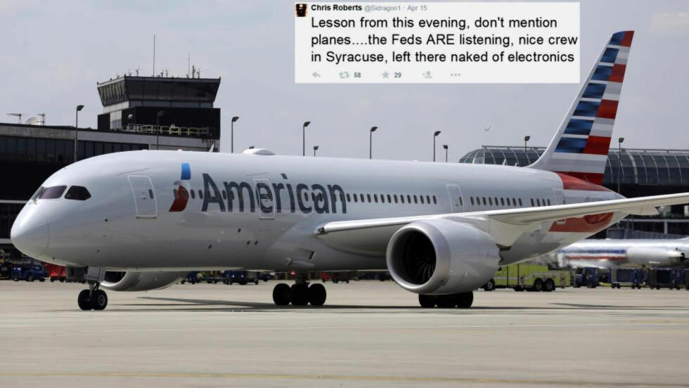 ENDRET FLYETS KURS: Hackeren Chris Roberts hacket seg 15. april inn et flys datasystemer. I avhør med FBI kommer det fram at han ved å koble seg på systemet med sin egen lap-top, klarte å endre flyets kurs en kort stund. Foto: AP Photo / Wilfredo Lee / Dagbladet