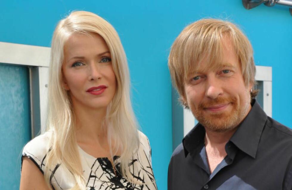 SAMMEN OM PROSJEKTET: Janne Tyldum vil medprodusere tv-serien ektemannen skal regissere. Ekteparet har opprettet et produksjonselskap for å bringe skandinaviske historier ut i verden. Foto: Sara Rüster.