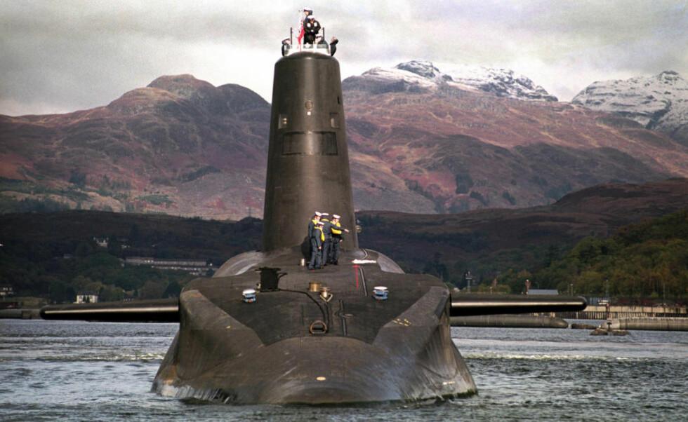 - EN KATASTROFE SOM VENTER PÅ Å SKJE: William McNeilly har tjenestegjort om bord på en atomubåt som dette, av Vanguard-klassen, som er utstyrt med atomrakettene Trident Foto: PA / NTB Scanpix