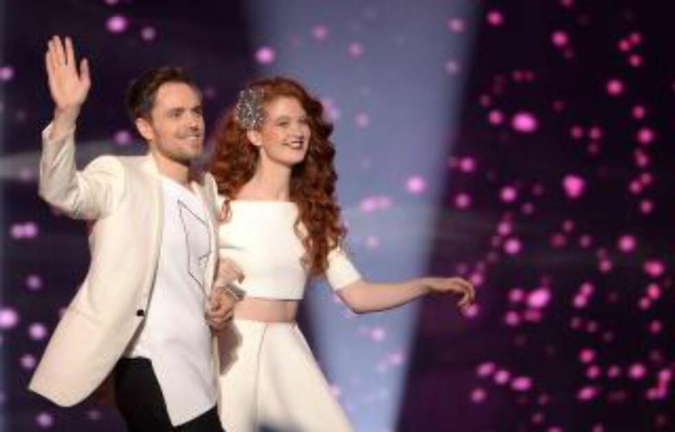 NÅDDE IKKE OPP: Det ble tidlig klart at Debrah Scarlett og Kjetil Mørland ikke kom til å sanke flest poeng i årets Eurovision. Foto: NTB/Scanpix