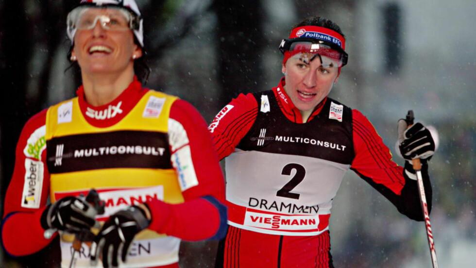 FÅR KRITIKK: Finsk dopingjeger mener Kowalczyk ikke har grunn til å kritisere Marit Bjørgens bruk av astmamedisin. Foto: Stian Lysberg Solum / Scanpix