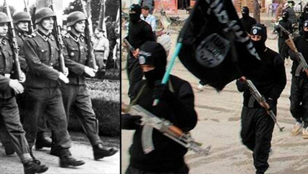 - LIKHETER:  Terrorforsker Hans Brun ser klare paralleller mellom nazistene og dagens jihadister. - Det er to høyreekstreme ideologier, sier hans Brun. Foto: Scanpix