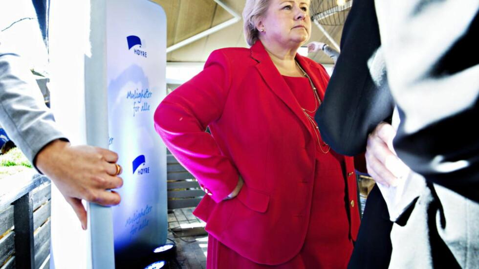 GJORDE FEIL: Statsminister Erna Solberg (H) innrømmer at hun ikke burde ha utnevnt én person til sikkerhetskoordinator. Foto: Nina Hansen / Dagbladet