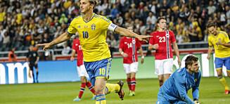 Sliter ofte mot Sverige: Sist lagene møttes rev Zlatan Norge i fillebiter