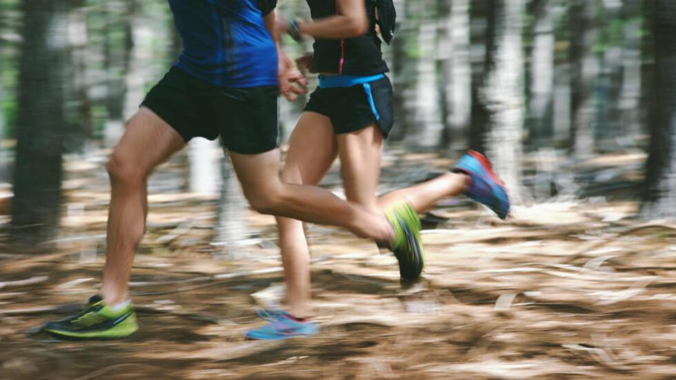 TO ROLIGE ØKTER: Det anbefales totalt fire løpeturer hver uke for å nå halvmaraton-målet, men to av joggeturene går i sone 1. Foto: NTB Scanpix