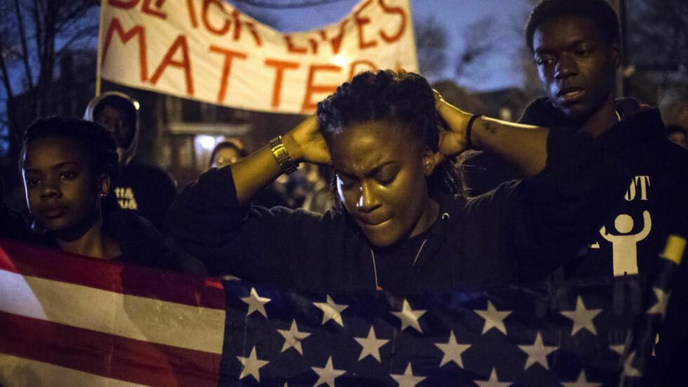 PROTESTER: Det var store protester i Ferguson i november i fjor. Foto: REUTERS / Adrees Latif / NTB scanpix