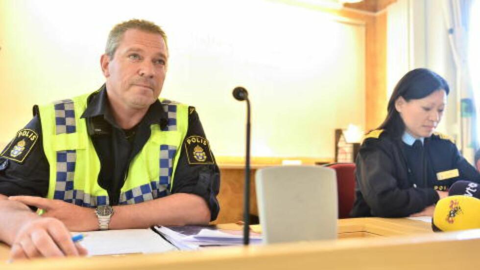 <strong>FORTELLER:</strong> Politiets områdesjef Helena Trolläng og innsatsleder Martin Fredman. Foto: Thomas Rasmus Skaug / Dagbladet