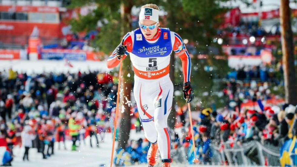 RASKEST: Eirik Brandsdal var raskeste nordmann i prologen, bak Johan Edin. Foto: AFP PHOTO / JONATHAN NACKSTRAND / NTB Scanpix