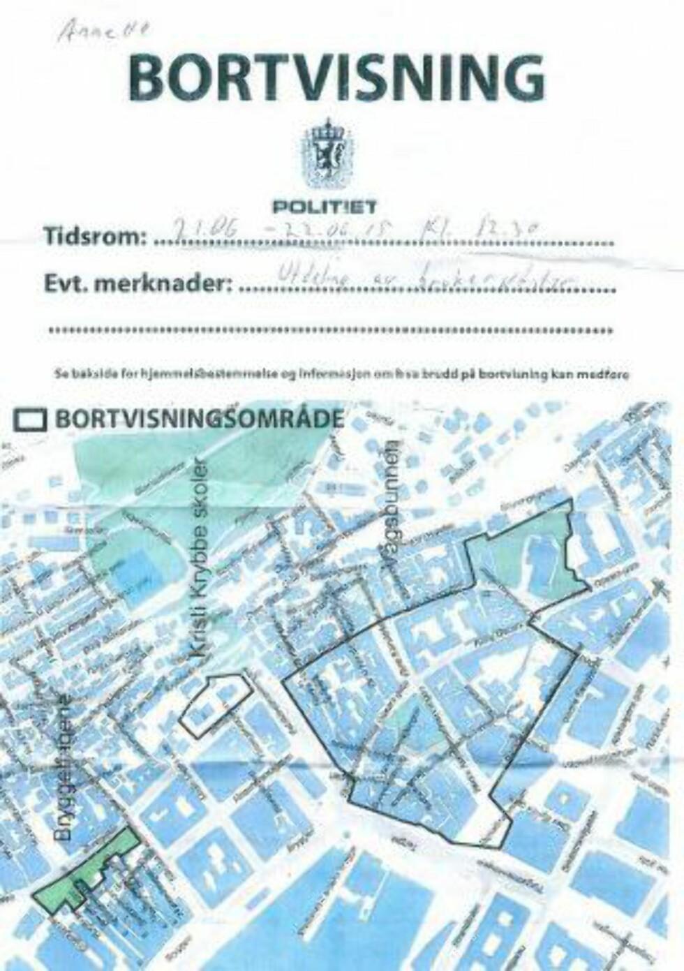 BORTVIST: Annette Svae, leder i foreninga, ble bortvist fra Bergen sentrum i 24 timer fordi hun delte ut rent brukerutstyr til narkomane. Foto: Privat