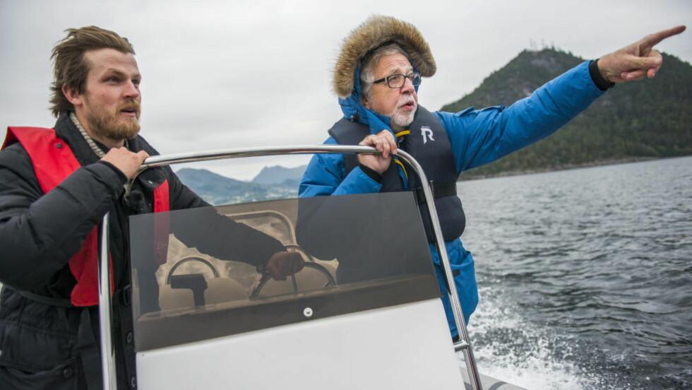 TIPSET EGEN KANAL: Det var programleder Oddgeir Bruaset (til høyre) som tipset NRK om Severin Rønes. Nå er 32-åringen blitt fulgt av kamera i ett år. Foto: Endre Vellene