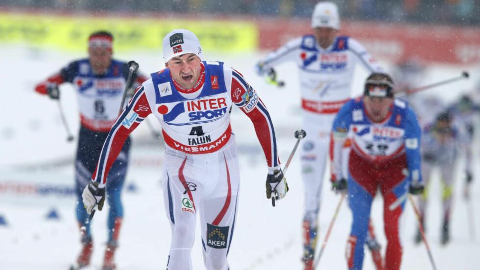 <strong>SLITEN:</strong> Hard sesongoppkjøring gjør at Petter Northug dropper sommerens planlagte høydeopphold. Her fra ski-VM i Falun i vinter. Foto: Terje Pedersen / NTB scanpix