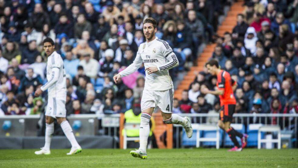 VIL TIL MANCHESTER UNITED: Real Madrid-stopper Sergio Ramos kan være ferdig i klubben. Foto: Christian Roth Christensen / Dagbladet