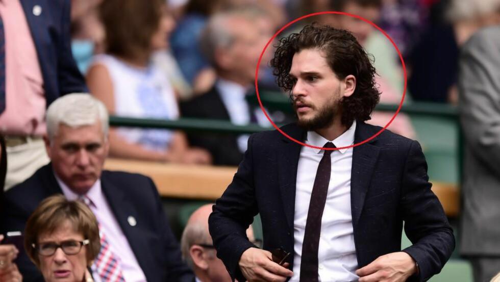 ET TEGN FRA OVEN? Dersom Kit Harrington skal spille Jon Snow i «Game of Thrones» igjen, kunne han ikke klippet håret. Det har han heller ikke gjort. Foto: WENN.com