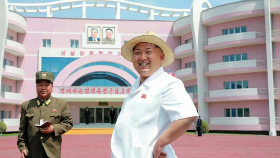 NYE BILDER: Det nordkoreanske nyhetsbyrået KCNA slapp dette bildet av Kim Jong-un tidligere i uka. Foto:  AFP PHOTO / KCNA via KNS