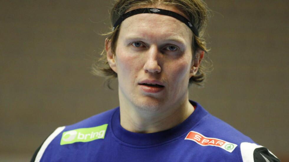 TIL DRAMMEN: Frank Løke (35) returnerer til norsk håndball neste sesong. Det offentliggjorde Drammen-sjef Frode Scheie onsdag. Foto: Håkon Mosvold Larsen / Scanpix