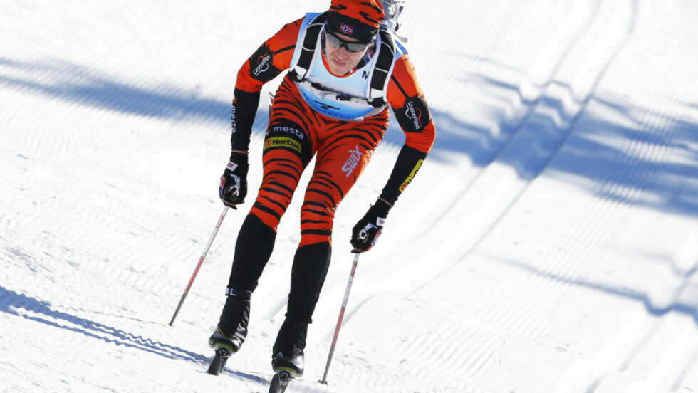 NY SEIER: Petter Eliassen viste igjen at han er sesongens klart beste langløper i langrenn. Her fra Birken forrige helg. Foto: Heiko Junge / NTB scanpix