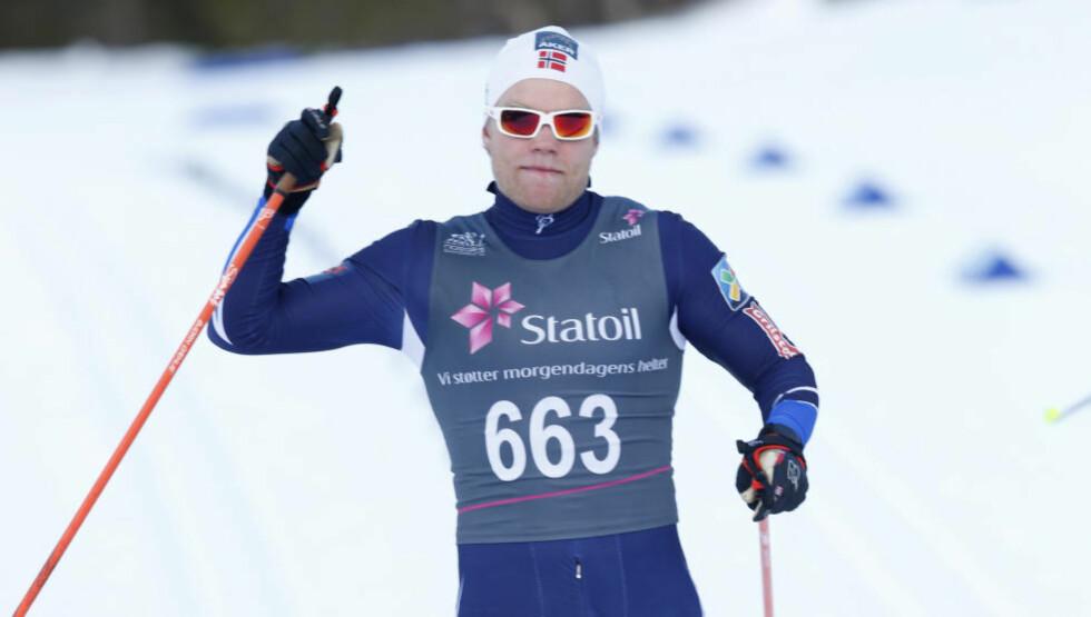 NORGESMESTER: Eirik Brandsdal ble Norgesmester på femmila i Harstad. Foto: Terje Bendiksby / NTB scanpix