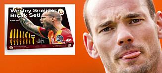 Wesley Sneijder reklamerte for knivsett: Ante ikke hvor dårlig timingen var