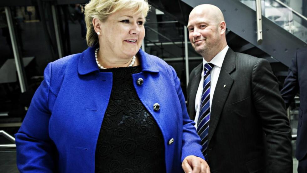 KRITIKK: Over halvparten av Venstres toppkandidater er blitt mer negative til det borgerlige samarbeidet etter asylbråket. Flere ønsker å bryte samarbeidet. Foto: Nina Hansen / Dagbladet