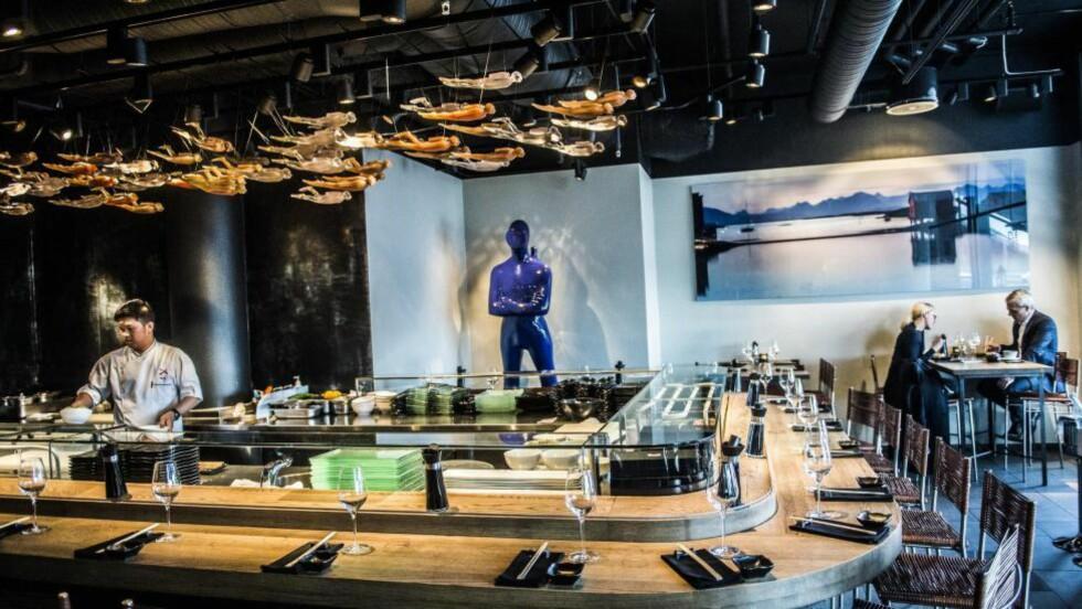 DE RIKES LEKEGRIND: Alex Sushi er et lekkert sted som serverer lekker mat til høy pris. Foto: THOMAS RASMUS SKAUG