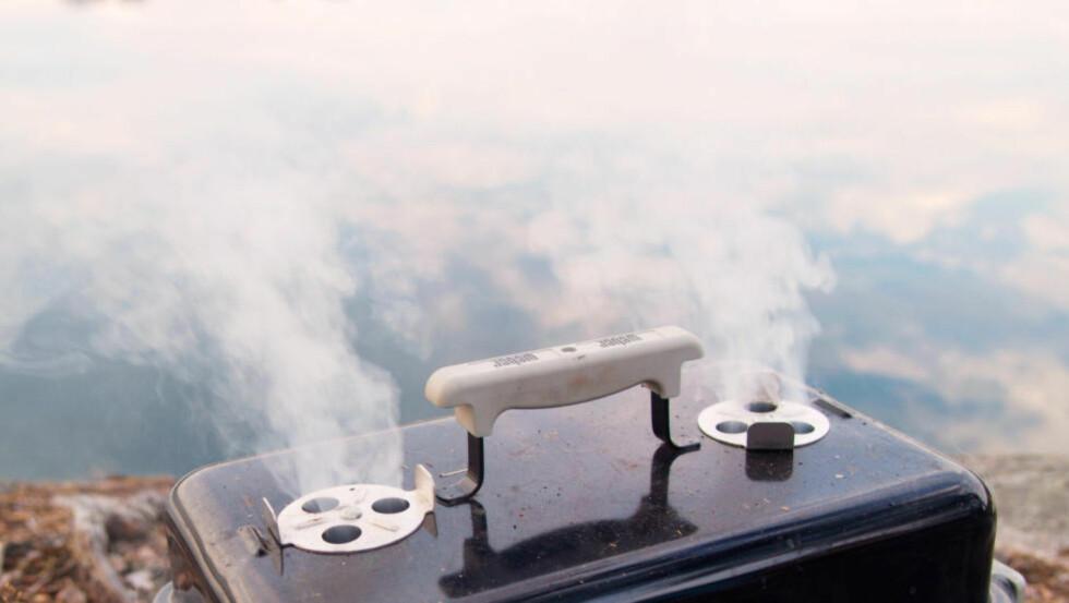 GAVE TIL GRILLEN: Litt treflis og alminiumsfolie er alt som skal til. Legg på grillen, få fram nye smaker. Du behøver ikke egen smoker for å røyke maten. Kjøp ferdige pakker eller lag din egen variant ( se artikkelen). Du kan også kaldrøyke med en røykepistol. Foto MASKOT (RM) / NTB SCANPIX
