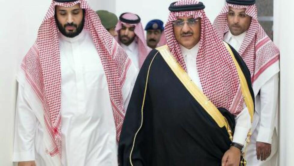 ARVTAKERE:  Den nye kronprinsen og visekronprinsen sammen. Foto: EPA / Saudi Press Agency / NTB Scanpix