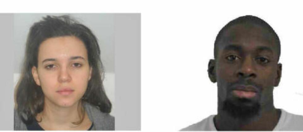KJÆRESTEPAR: Hayat Boumeddiene er på flukt og blir beskrevet som farlig av politiet. Kjæresten Amedy Coulibaly ble drept av spesialstyrker i går kveld.