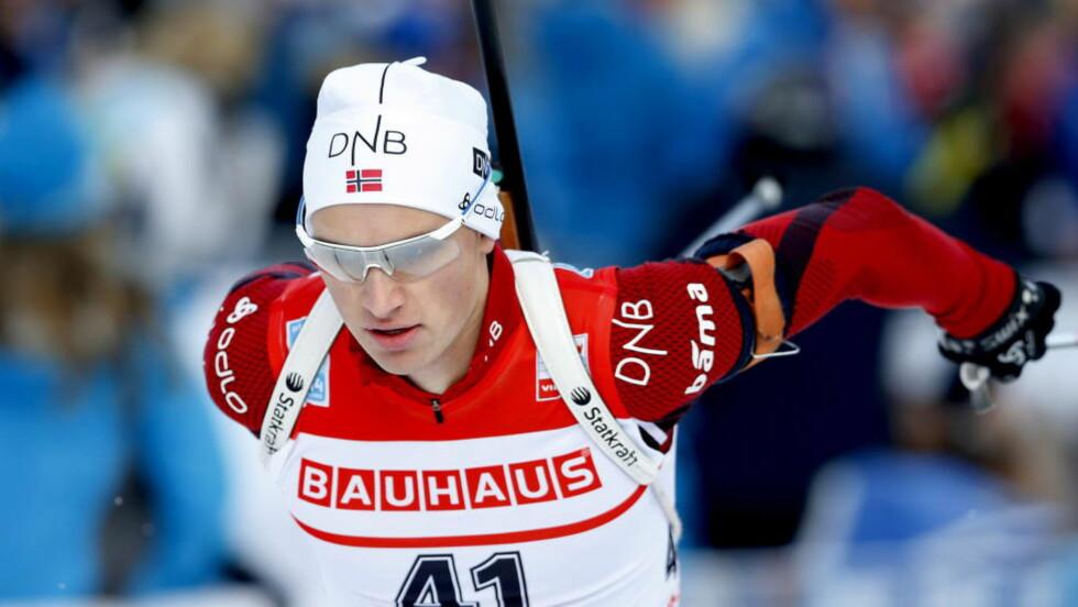NEST BEST: Henrik L'Abee-Lund ble nummer to på mennenes sprint i IBU-cupen skiskyting i Polen lørdag. To bom på stående skyting kostet ham seieren. Foto: Bjørn Langsem / DAGBLADET