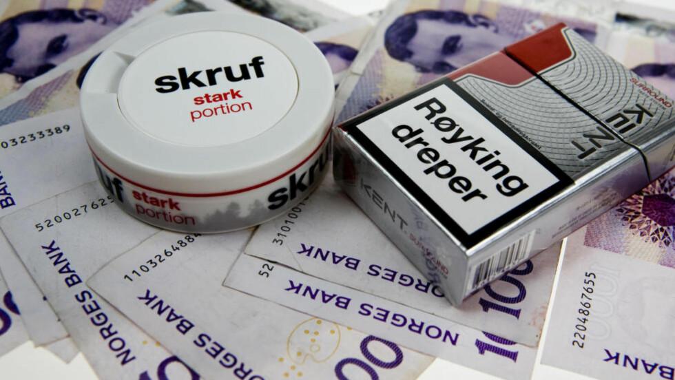 DYRT: Å bruke snus eller å røyke koster, viser vår sløsekalkulator. Foto: PER ERVLAND / DINSIDE.NO