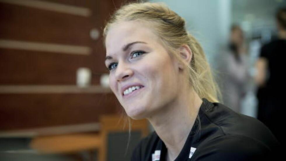 PÅ VEI TIL GYÖR: Landslagsstjerna Veronica Kristiansen. Foto: Bjørn Langsem