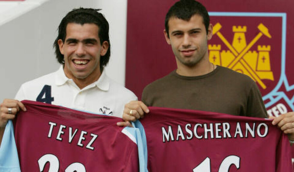 OMSTRIDT:  Carlos Tevez (t.v) og Javier Mascherano overgang til 2006 var omstridt, siden det var en tredjepart som sto bak overgangen. I England er det blitt forbudt. Foto: AP Photo/Jane Mingay/NTB Scanpix.