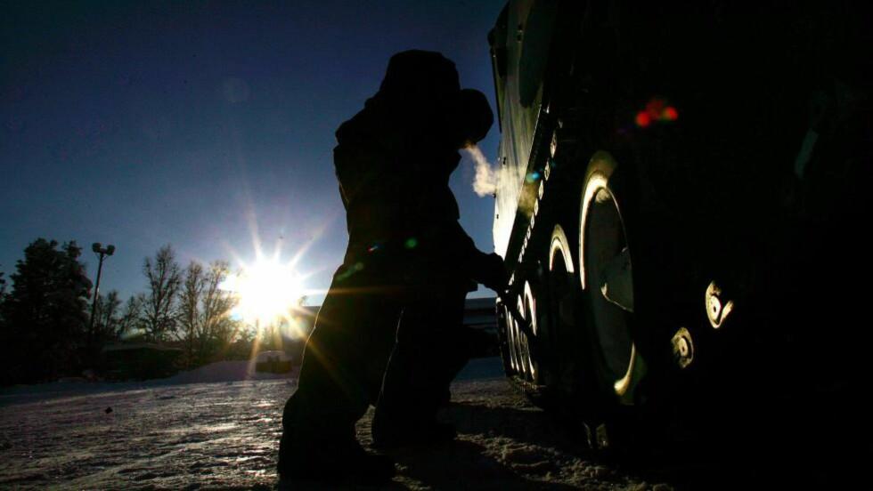 SETERMOEN: Seks soldater som ble tvunget til å løpe naktne på Setermoen i januar, måtte alle tas hånd om av lege. Illustrasjonsfoto: LARS MAGNE HOVTUN / HÆREN / SCANPIX