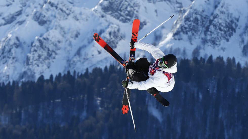 UTE: Øystein Bråten endte på 13.-plass i slopestyle på ski under X-Games i Aspen og ble slått ut av konkurransen. Foto: Heiko Junge / NTB scanpix