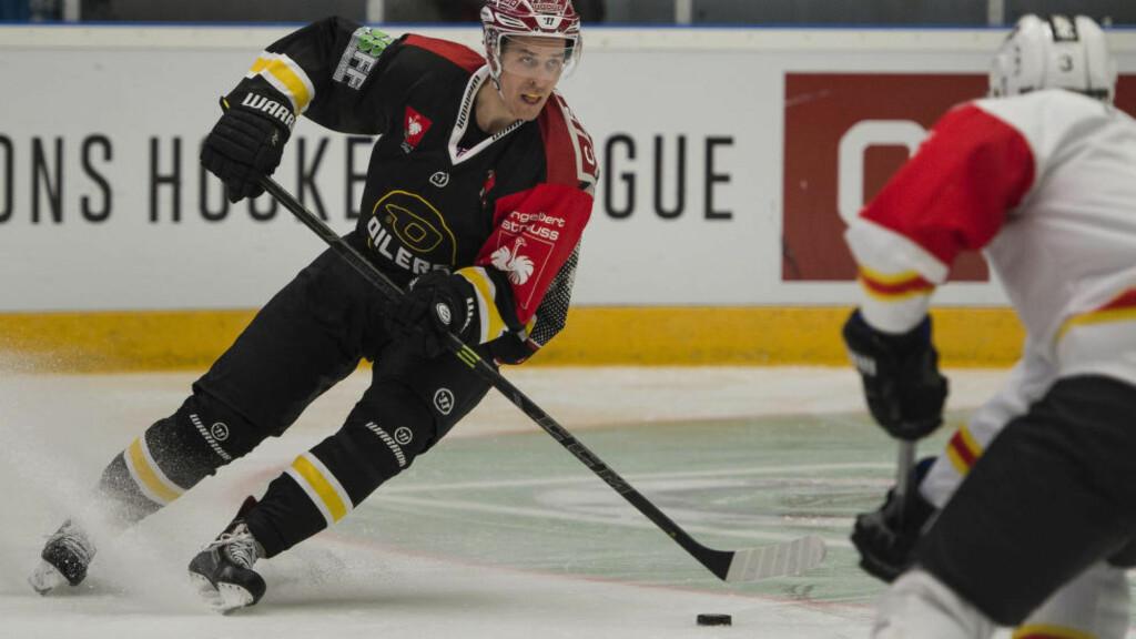 MATCHVINNER: Stavanger Oilers måtte kjempe hardt for 2-1-seieren mot Lørenskog lørdag, men en Christian Dahl-Andersen-scoring i sudden death ga serielederen to svært viktige poeng.  Foto: Carina Johansen  / NTB Scanpix