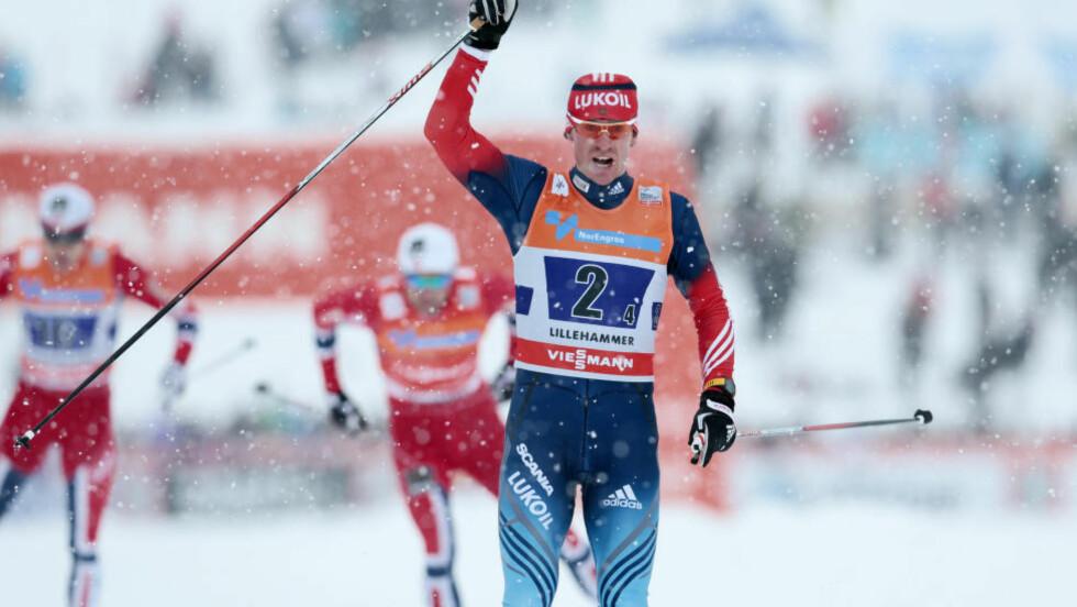 TILBAKE: Maxim Vylegzjanin tok en etterlengtet seier da han vant søndagens skiathlon på hjemmebane i russiske Rybinsk søndag. Foto: Håkon Mosvold Larsen / NTB scanpix