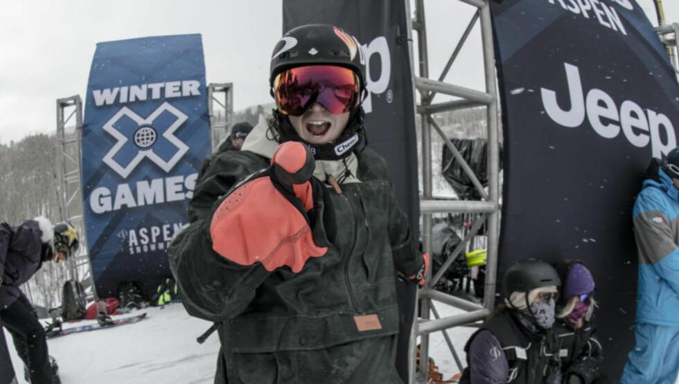 SØLV: Ståle Sanbech kjørte til X-Games-sølv i Aspen søndag. Foto: Snowboardforbundet
