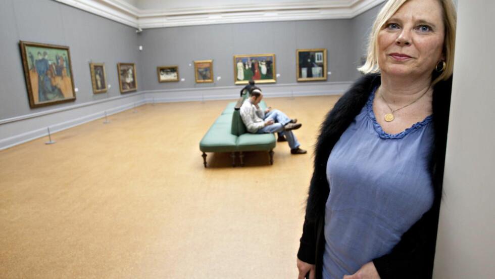 KRITISK: Munch-arving Elisabeth Munch-Ellingsen mener Melgaards prosjekt vil bli helt malplassert. Foto: Torbjørn Berg / Dagbladet